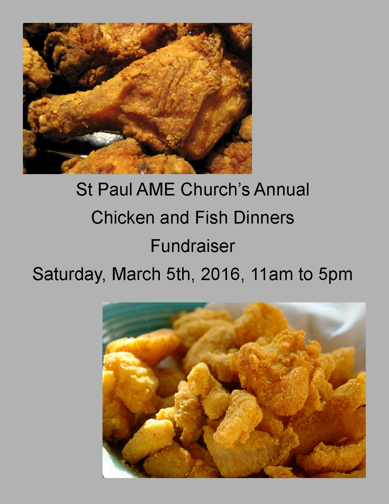 St paul a m e church urbana st paul a m e c for Fishers chicken and fish